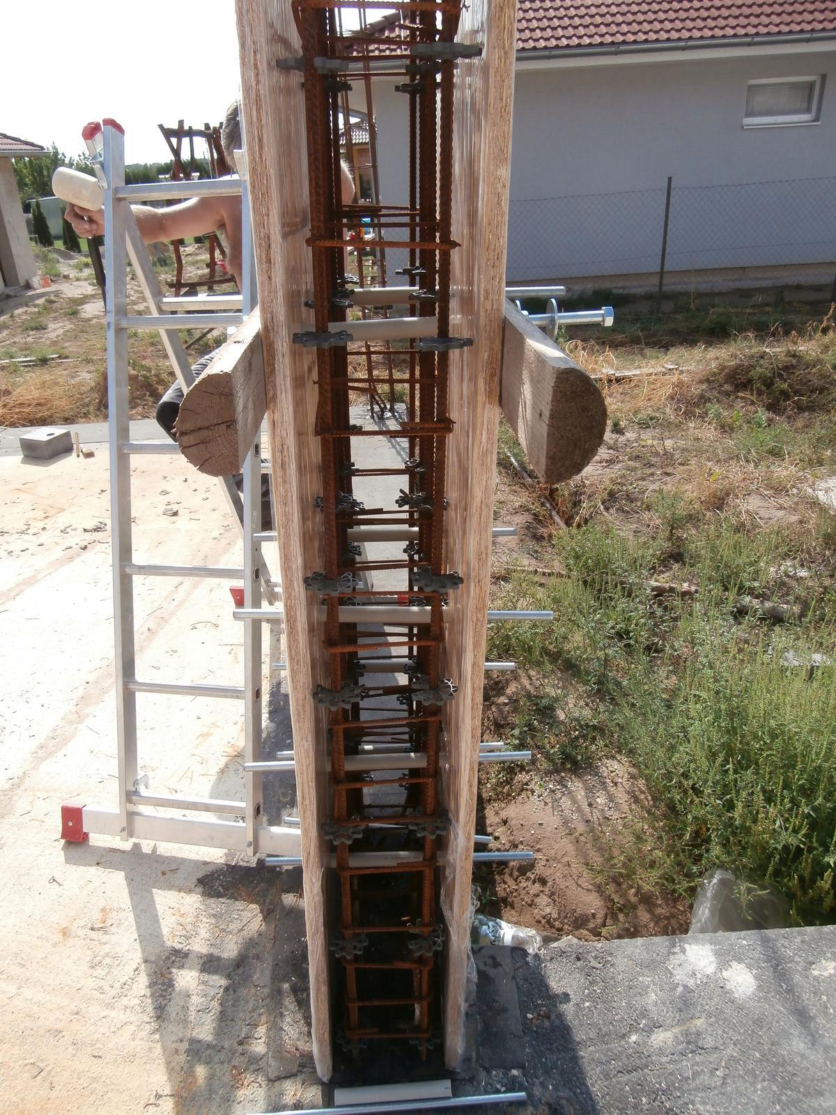 Bungalov z vápenno pieskových tvárnic(VPC) od Kalksandsteinu - Krytie betonu 25 mm