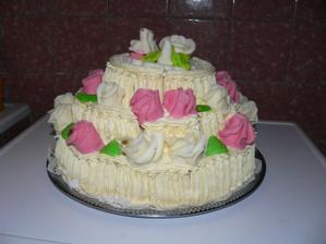 svatební dort dělala babička