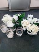 Vázy s kytkami,