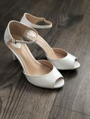 Biele svadobne topanky, 40