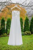 Krajkové svatební šaty - velikost 36/38, 38