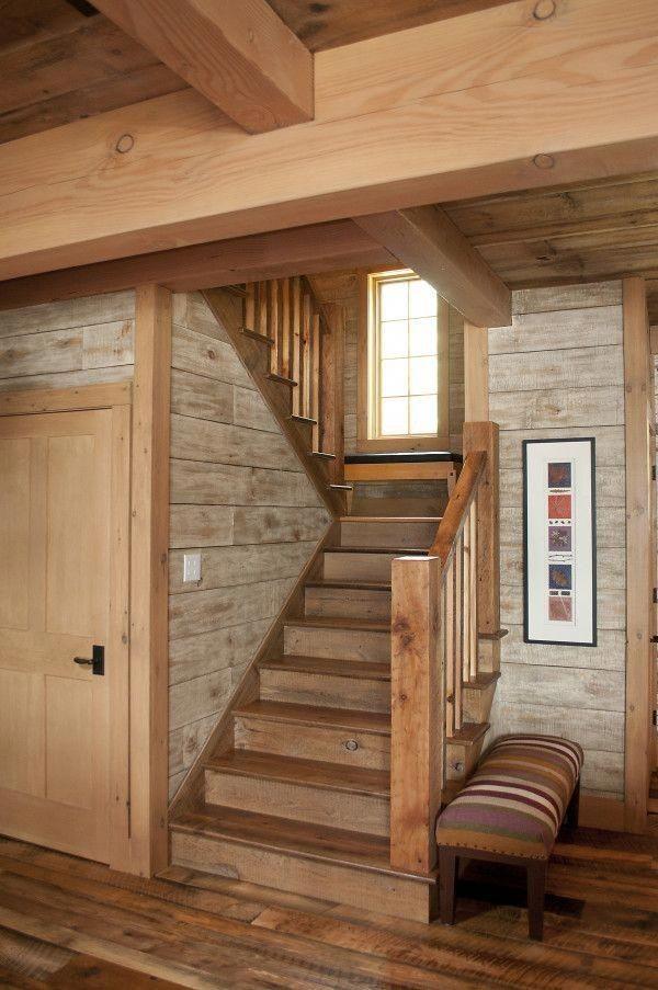 Vizualizace (představa) - Podobně by mělo být řešeno schodiště s dveřmi pod ním do technické místnosti.