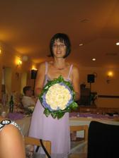 Sestři a moje svatební kytice