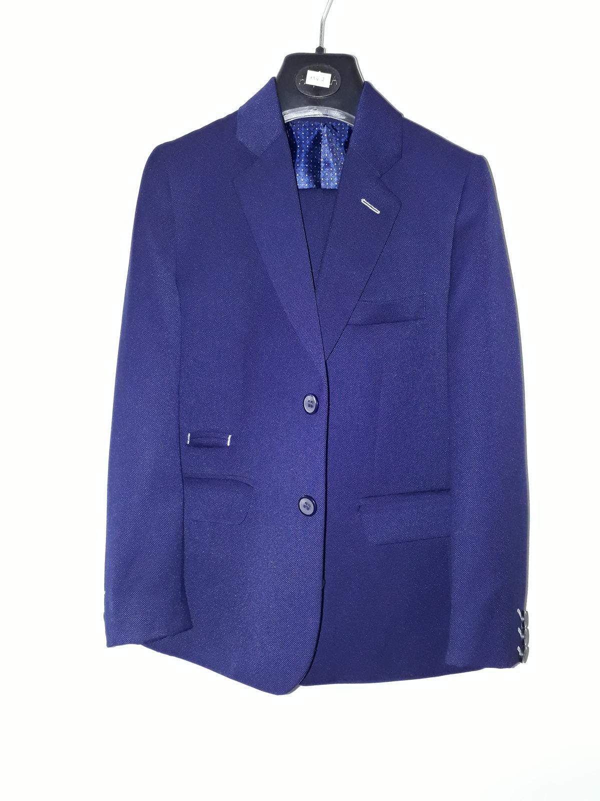 Chlapecký oblek vel. 134 - tmavě modrý - Obrázek č. 1