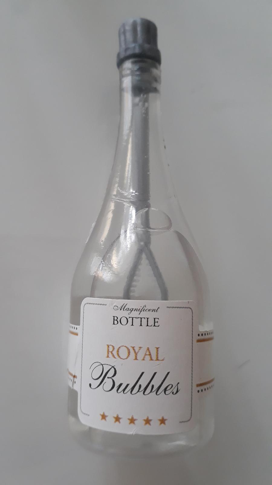 Partydeco bublifuk lahev šampaňského stříbrná - Obrázek č. 1