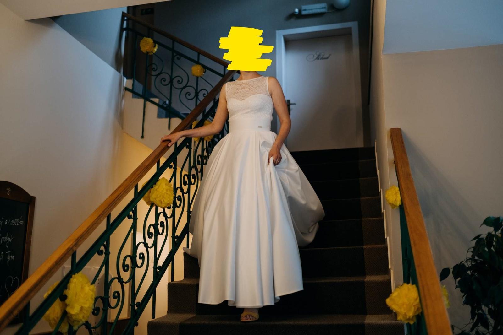 Smetanová svatební sukně + body + spodnice - Obrázek č. 1