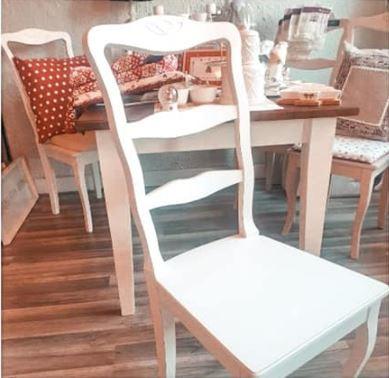 Vintage stolička, masív - Obrázok č. 1