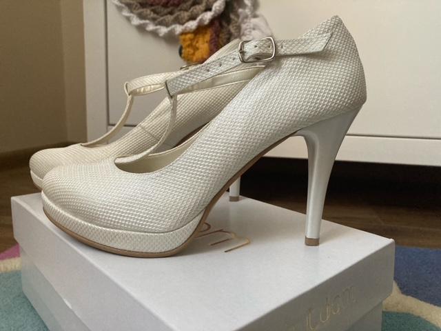 Svadobné topánky Mariola, prírodná koža - Obrázok č. 1