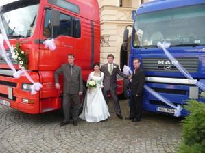 S manželem a kolegy řidiči