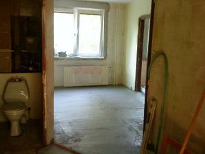 prehodená kúpelňa do chodby