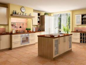 tuhle kuchyni budeme chtí, jen s jinou deskou a jiné uspořádání.