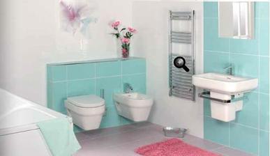 takhle modroučká koupelna je super