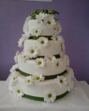 rozhodli sme sa že tato bude hlavná svadobná torta