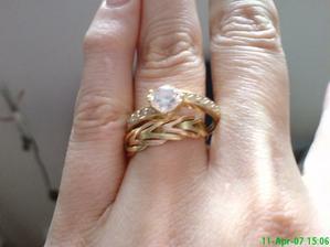 moje snubne prstene,prvy bol pred 7 rokmi svadbu sme odlozili a druhy teraz