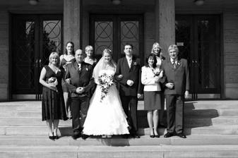 Fotografie s rodičemi a sestry