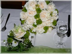 takto podobně - růžová a champagne růže