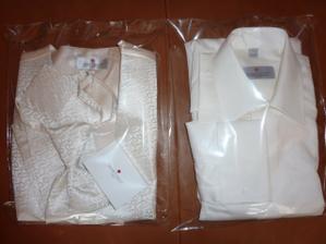 košile, vesta, regata a manžetové knoflíčky