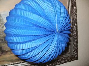 Svatební lampion modrý!