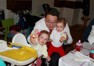 bráška s dcerkami Ania a Boba