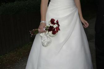 ... a skutečná, navíc s bílými kvítky, které vypadaly nádherně...