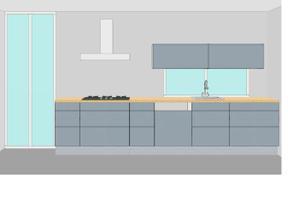 návrh kuchyně 1. strana
