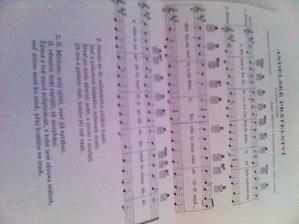 tak tohle si s námi svatebčané zazpívají po obřadu...každý dostal noty k oznámku (ale prej jsme spíš měli dodat midi :-) )