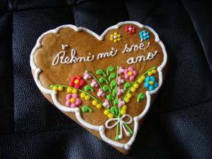 takovéhle krásné srdíčko jsem dostala od budoucího manžela :-)