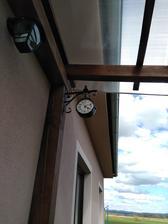 Moje nove hodiny na terasce🙂🙂