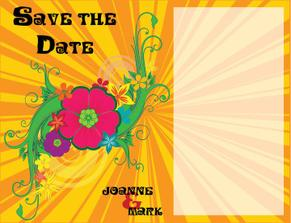 Front of the Save the Date cards that I designed :)