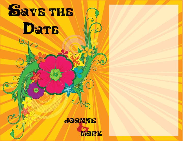 Invites revisited... - Front of the Save the Date cards that I designed :)