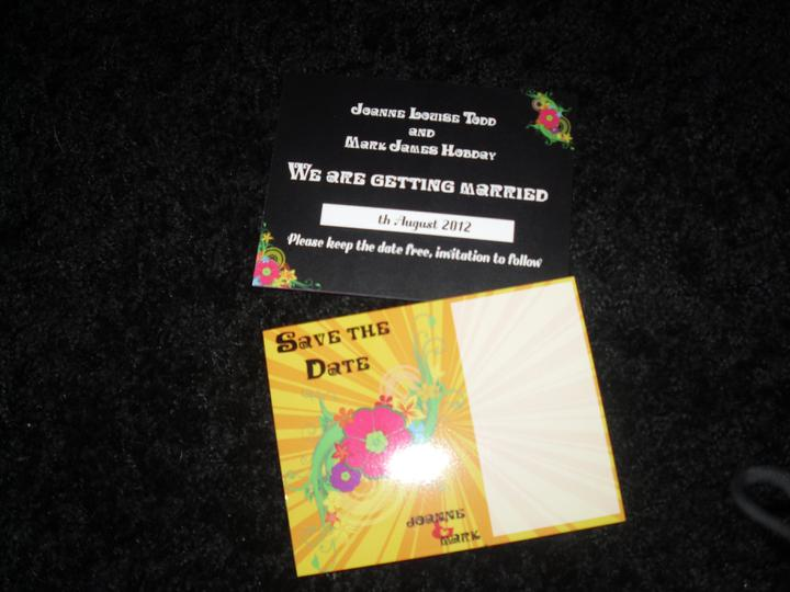 Invites revisited... - The postcards have been printed and have arrived too :)