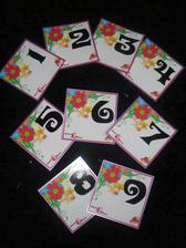 My table numbers - we are going to use the venues holders