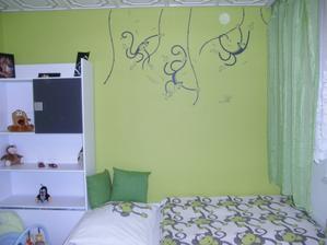 Pokojíček našeho miláčka, ten zatím zůstane tak a po novem roku udelame strop a podlahu :)