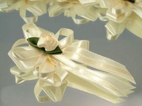 Doplnky na SVADBU - svadobné mašličky...