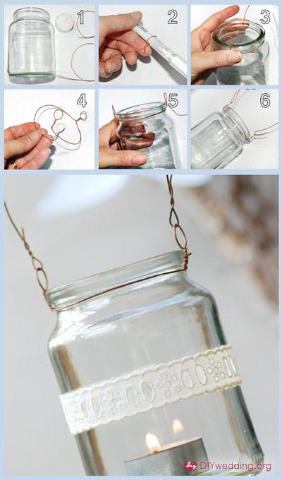 DIY návody a nápady - Zahradní lucerničky krajkové