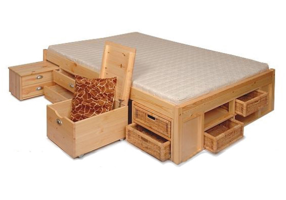 Vybavení-vybráno - Pravděpodobně si pořídíme tuhle postel...asi v bílé verzi. Malý byt si žádá chytrá úložná řešení :-)
