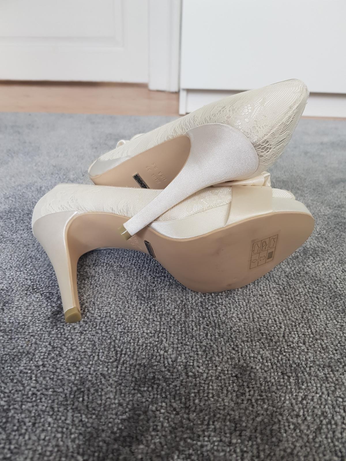 Menbur svatební peep-toe boty - Obrázek č. 2