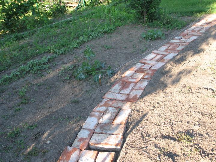 STEP  BY    S  T  E  P - robime si docasny chodnicek v uzitkovej zahrade (este nedokonceny)  - hadam 2-3 roky vydrzi