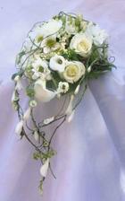 Tahle něžná kytička by možná splnila moje představy. I když poslední dobou uvažuji o bílých fréziích nakombinovaných s růžovými růžemi. Uvidíme...ještě mám čas si to promyslet