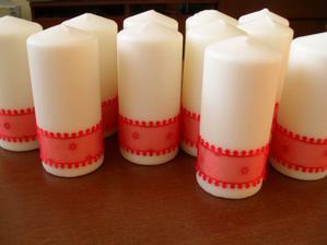 svíčky již připravené