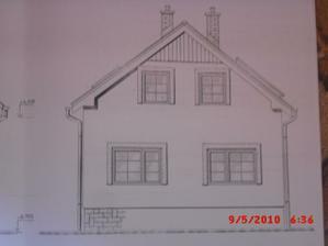 projekt domu - predná časť