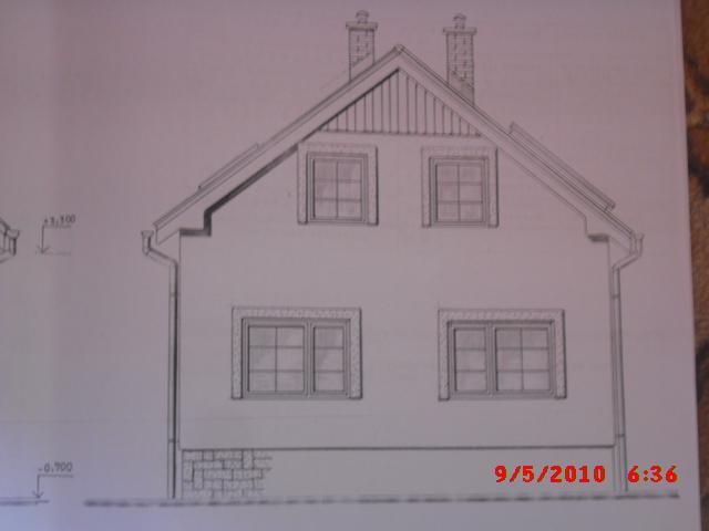 Náš domček, naša radosť a starosť ............... - projekt domu - predná časť
