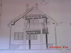 projekt domu - zadná čast