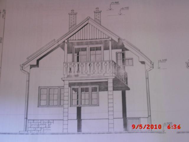 Náš domček, naša radosť a starosť ............... - projekt domu - zadná čast