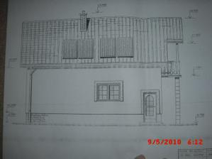 projekt domu - pohlad z dvora