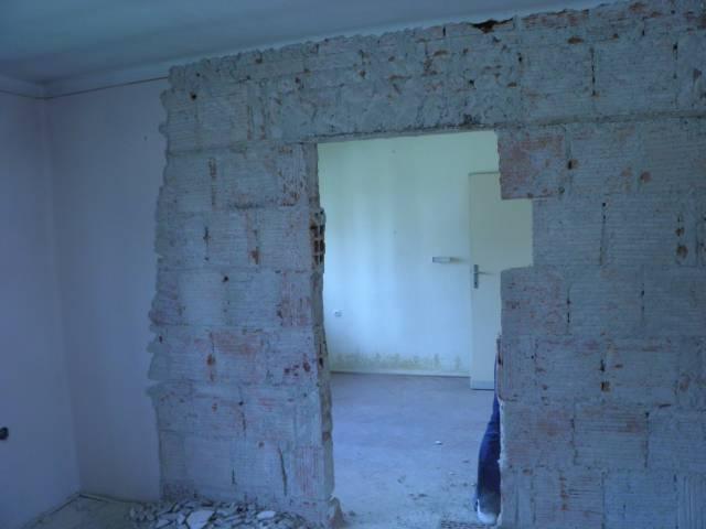 Náš domček, naša radosť a starosť ............... - čistenie stien a búranie priečky medzi obývačkou a jedálnou