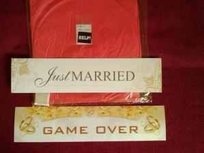 lampión šťastia a svadobné ŠPZtky :P