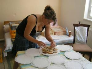 balení koláčků