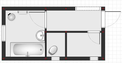 Kupelna, WC, Spajza - povodny stav