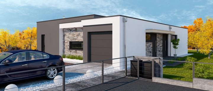 Gitaa - projekt rodinného domu - predný pohľad